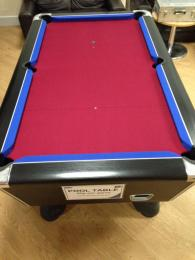 Pool Re-Covers Burgundy & Blue